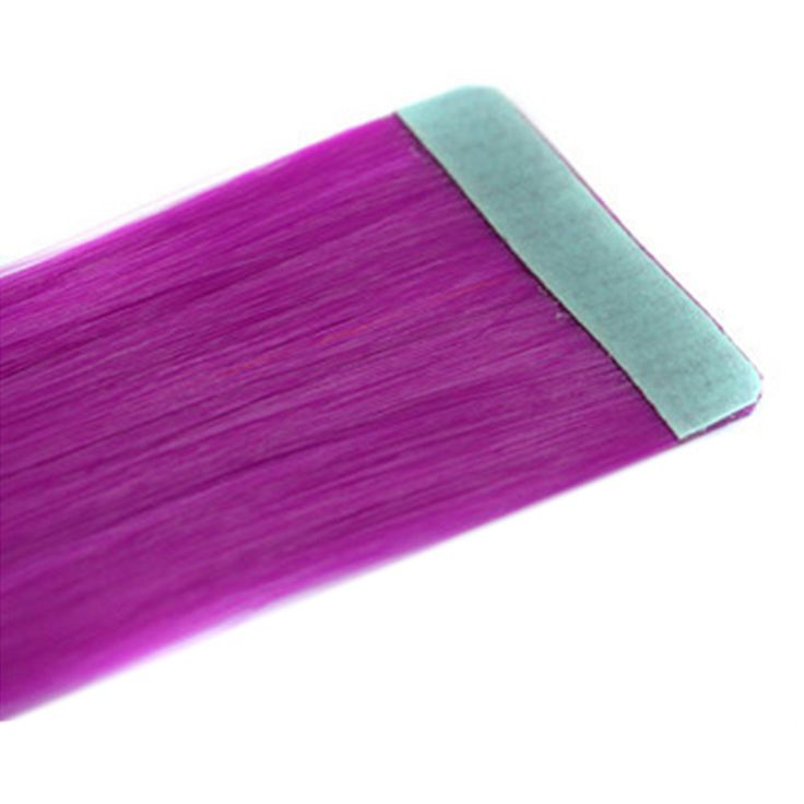 Invisible Hair Extension Colorful Wig rose red 51P#