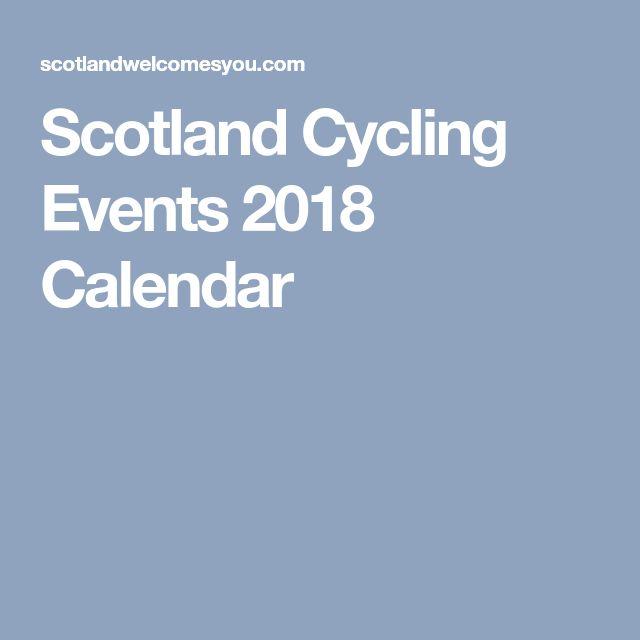 Scotland Cycling Events 2018 Calendar