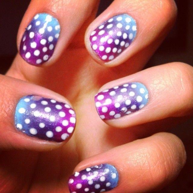 #OmbreNails #DotsNails #PurpleNails #GradientNails
