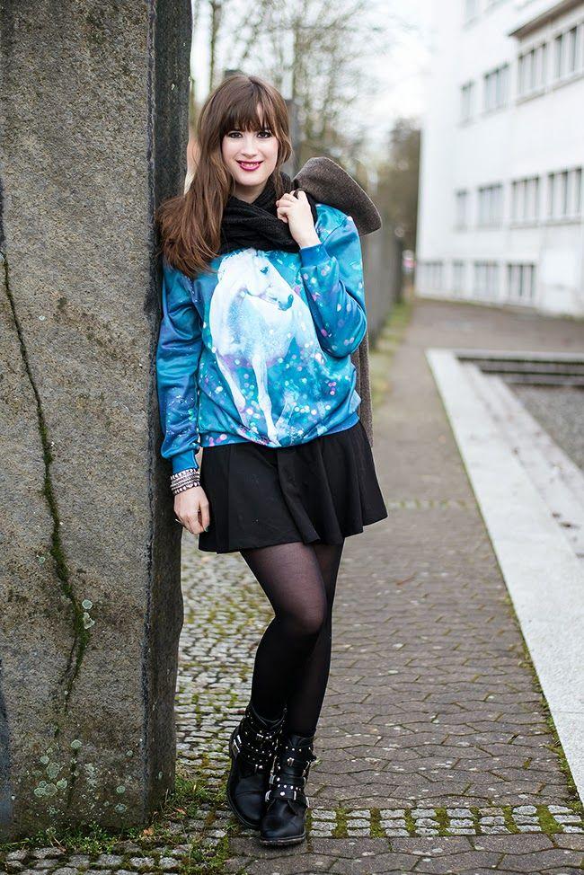 Outfit mit Einhorn Pullover - Unicorn Sweater!