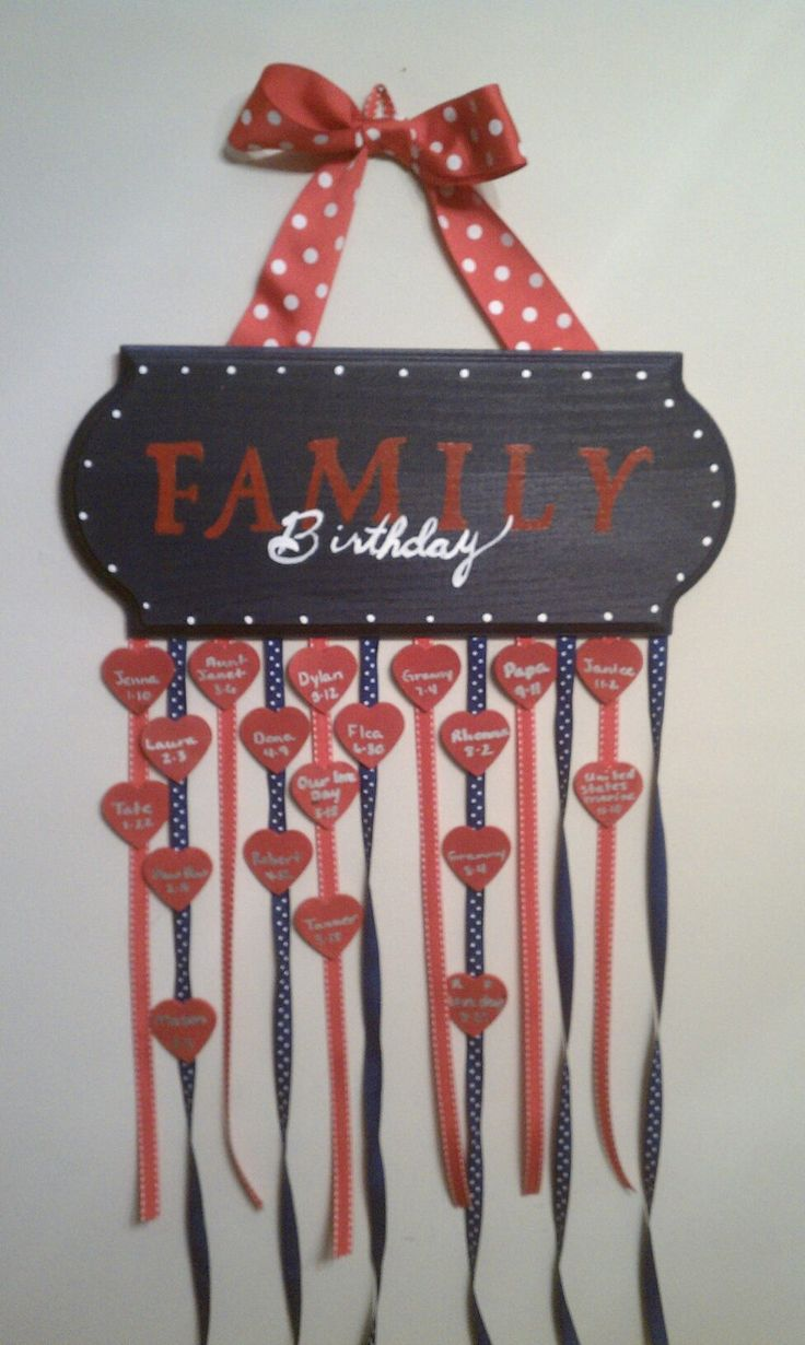 family birthday wall hanging my homemades pinterest. Black Bedroom Furniture Sets. Home Design Ideas