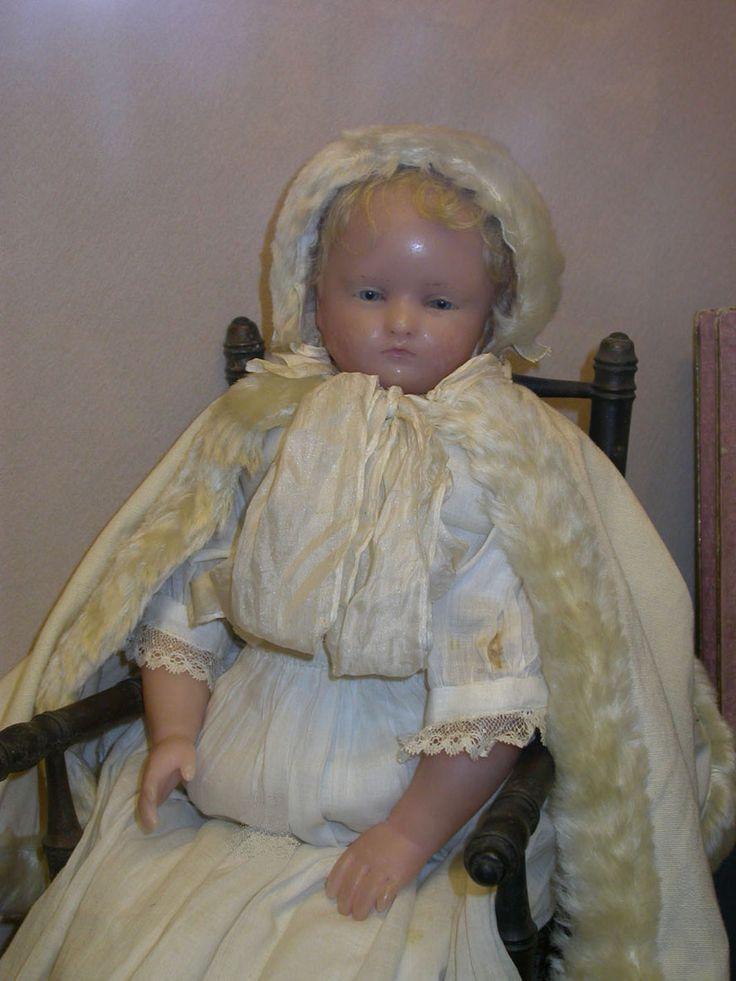 Pierotti poured wax doll from the Odin collection at Musée de la Poupée-Paris, #dollshopsunited