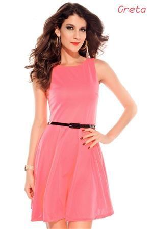 GRETA Dámské letní šaty růžové