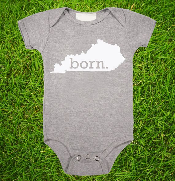 Kentucky Home State BORN Unisex Baby Onesie - Boys or Girls via Etsy