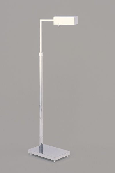 Casella Lighting Showing The Jon Norman Adjustable Pharmacy Floor Lamp With  The B Shade. This