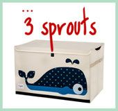 3 Sprouts Raccoon Canvas Storage Bin by 3 Sprouts