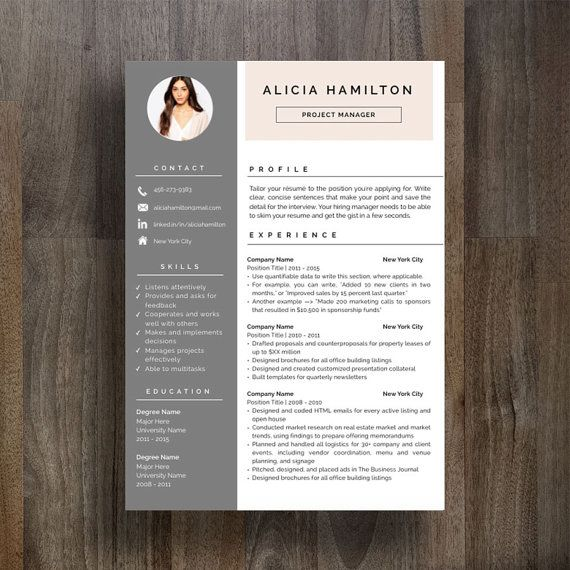 creative resume template cv template cover by resumegallery - Sample Professional Resume Format