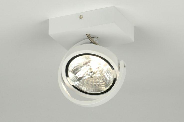 plafondlamp 71560: modern, design, aluminium, wit, mat, rond ...