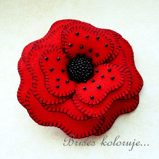 Felt flower brooch | Flickr - Photo Sharing!
