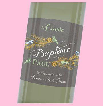 Étiquette bouteille baptême personnalisable pour la grande journée de votre garçon, ref N3001104