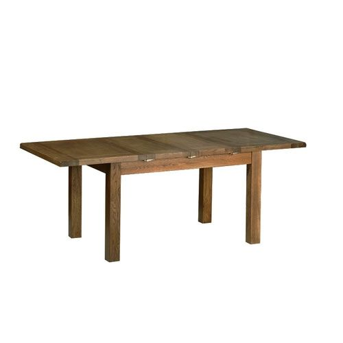 """Devonshire Rustic Oak 6'8"""" Extending Table (2 Leaf). Extends to 2750 in an artistic rustic finish. Dimension: Height 780mm, Width: 2040mm, Depth: 915mm. Price: £ 499.95. Visit http://solidwoodfurniture.co/product-details-oak-furnitures-195--extending-table-leaf-extends-to-.html"""