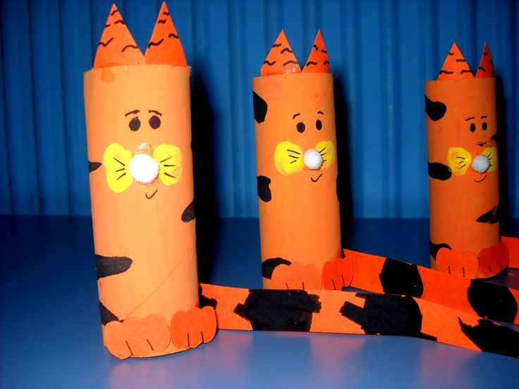 tiger paper roll craft