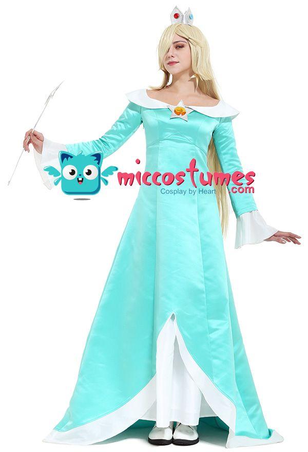 Women\u0027s Galaxy Rosalina Cosplay Costume Including Crown and