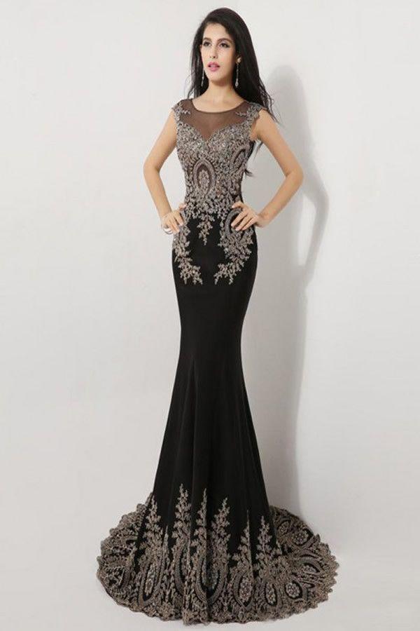 Long sleeve beaded prom dress - Best Dressed
