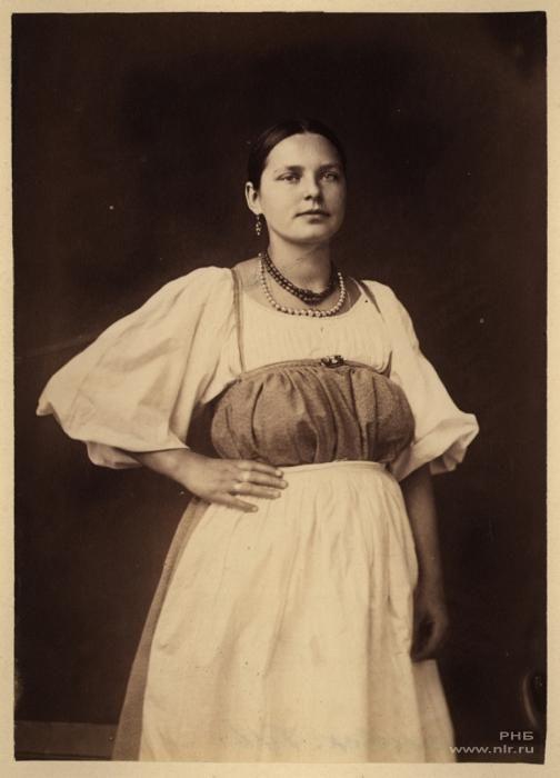 Фотограф Вильям Каррик (1827—1878)Русская красавица. 1870-е
