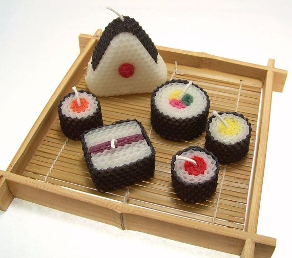 Sushi candles. Do I really have to say more?