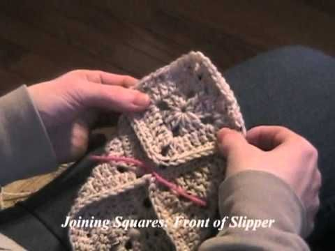Learn Crochet Now - Crochet Project 12, Granny Square Slippers