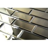 """Found it at Wayfair - Reflections 3"""" x 6"""" Mirror Glass Peel & Stick Subway Tile in Gold"""