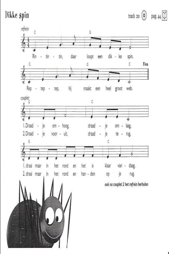 Liedjes spinnen - Digibord Onderbouw