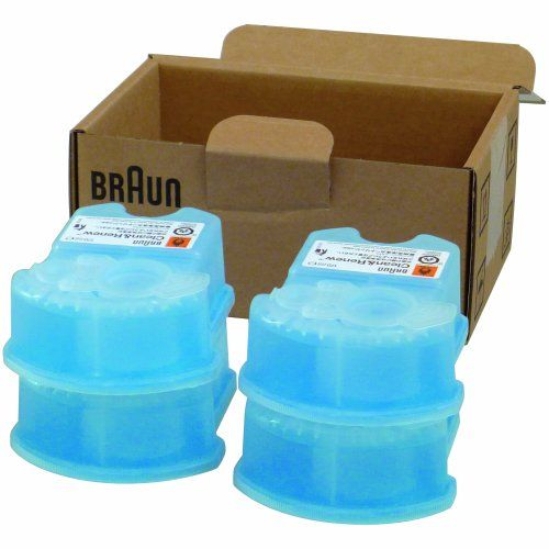 Braun Clean & Renew Cartridge Refills, Frustration Free 4 Count | Multicityhealth.com List Price: $20.14 Discount: $0.00 Sale Price: $20.14