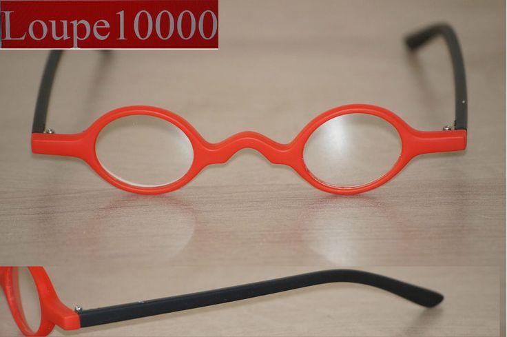 lunettes loupes de lecture pré montées rétro noir/rouge réf R183 N° 57B
