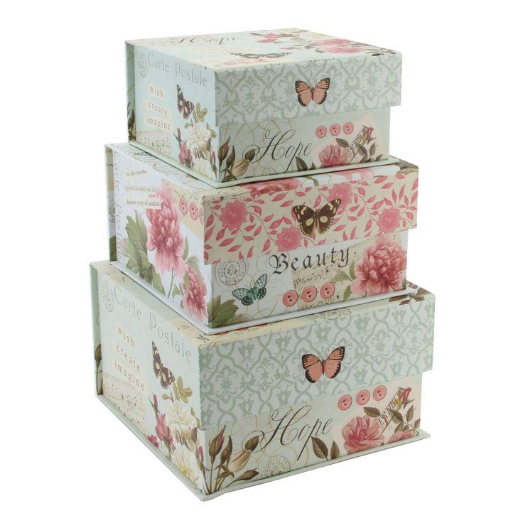 61 best images about boxes on pinterest ottoman - Decorative storage boxes ...