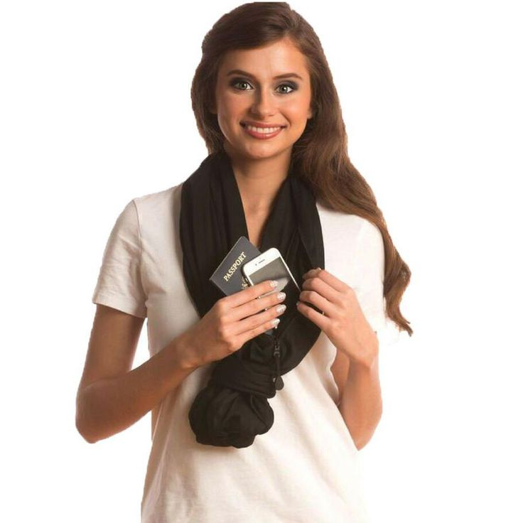Sholdit Infinity Scarf Wallet with RFID Credit Card Sleeve and Tip Table Combo Set