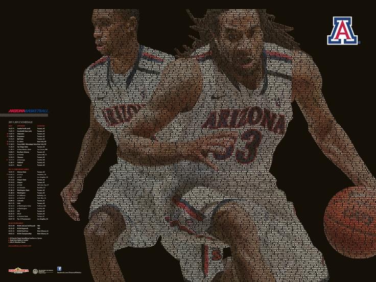 2011-12 Arizona Basketball Schedule Poster