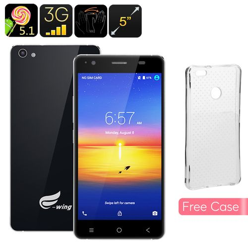 Ewing E9 Android Smartphone-5 Inch 720P IPS Display,Quad Core CPU,Android5.1…