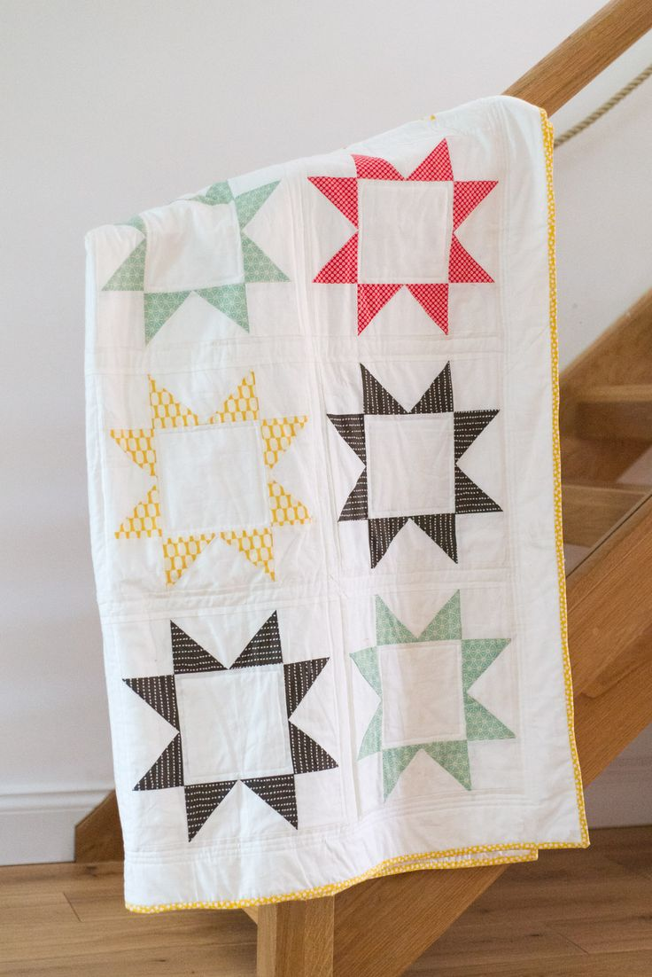 sawtooth star quilt using sew mama sew tutorial                                                                                                                                                     More