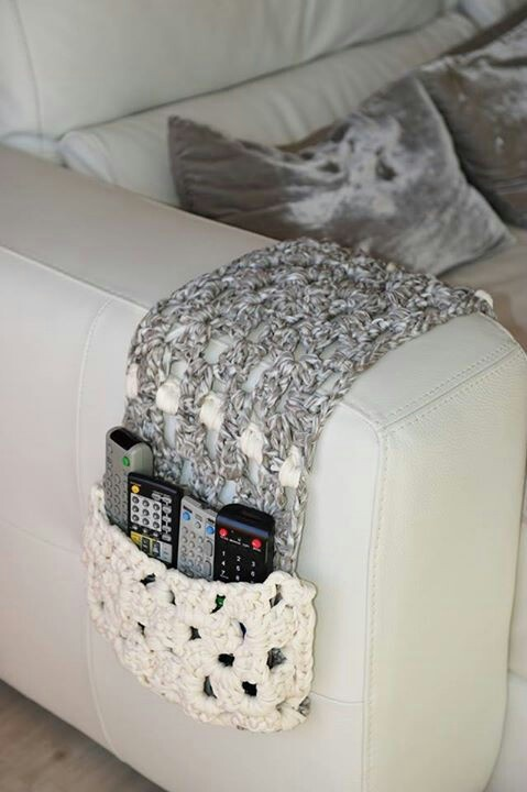 Remote Control Couch Cozy Crochet Home Goods