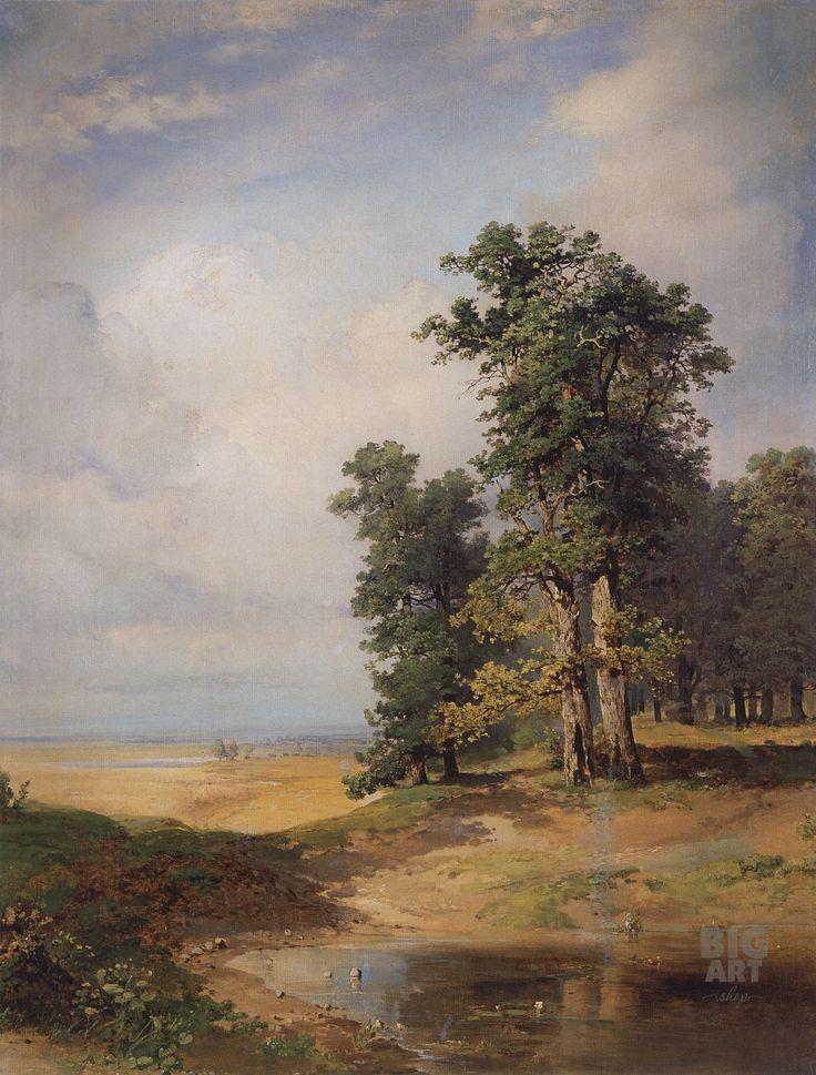 Летний пейзаж с дубами--1850_2.jpg (1920×2529)