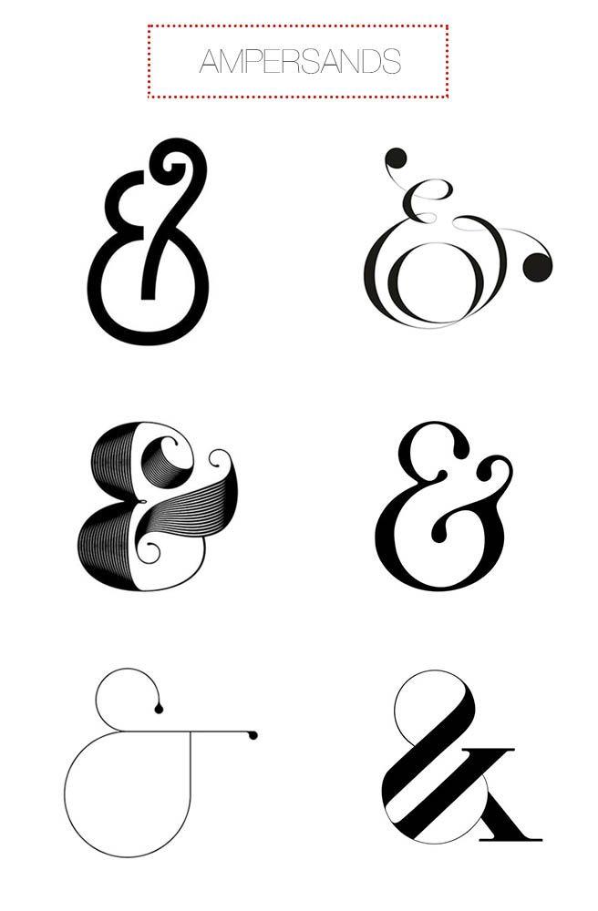 Design Double Take from gram blog, Ampersands. http://www.mgram.com/2014/06/04/design-double-take-21/