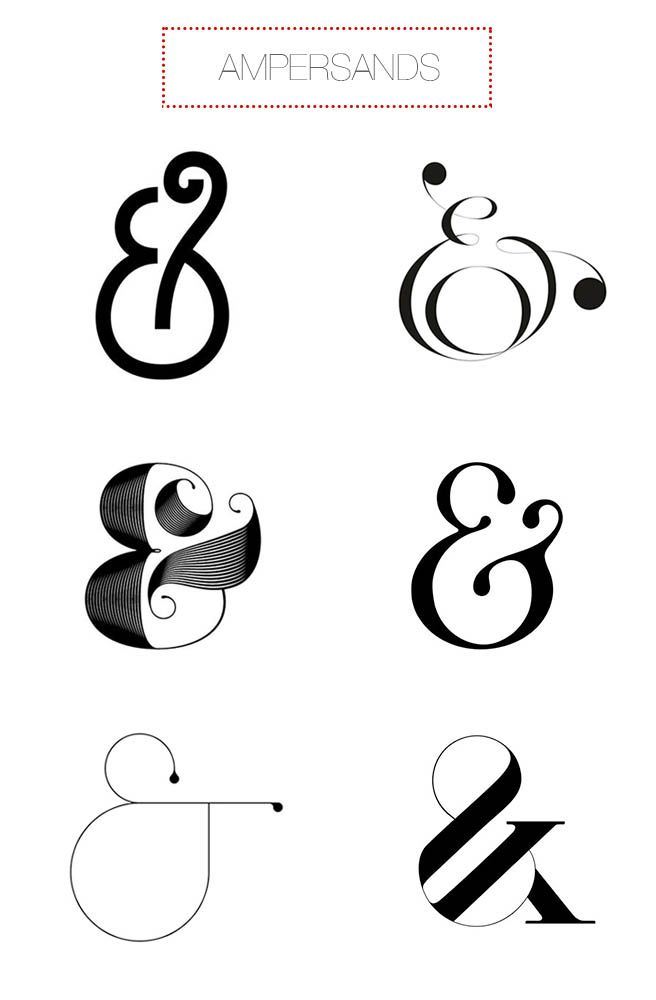Design Double Take from gram blog, Ampersands. http://www.mgram.com/2014/06/04/design-double-take-21/