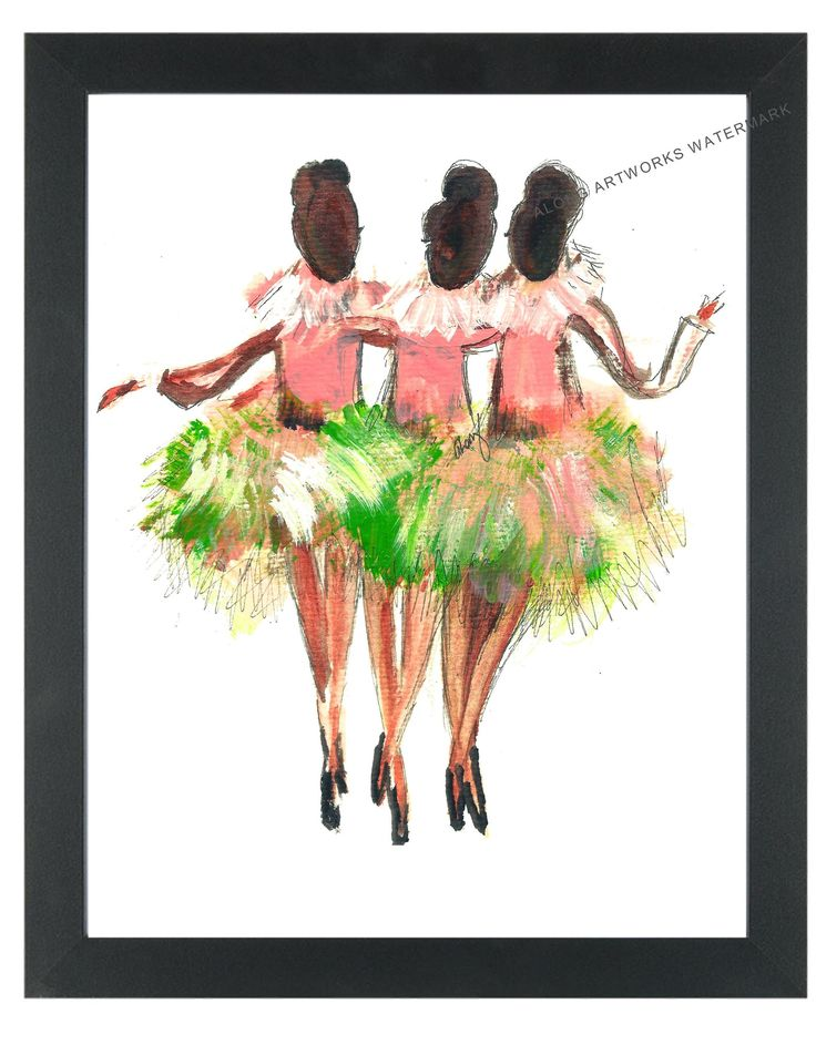 "Now Selling Print #15 to #75: ""Dancing Pearls"" Watercolor Painting Signed & Numbered"