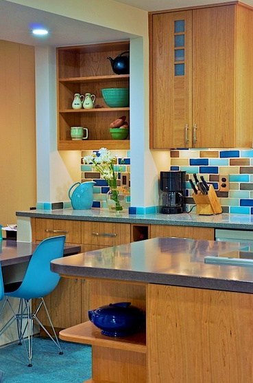 Fab_Kitchen_2: Kitchens, Company Architects, Color, Tile, Mid Century, Eclectic Kitchen, Kitchen Ideas, Century Modern