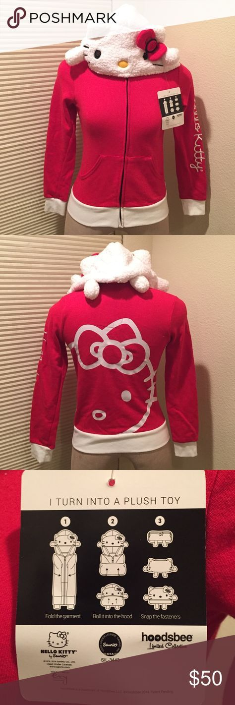 Hello kitty jacket Cute hello kitty jacket that turns into a plush toy! Sanrio Jackets & Coats
