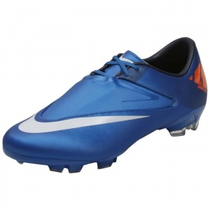 SALE - Mens Nike Mercurial Glide II Soccer Cleats Blue Synthetic - Was $90.00 - SAVE $34.00. BUY Now - ONLY $55.99