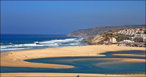 Foz do Arelho beach and Obidos Lagoon - Portugal