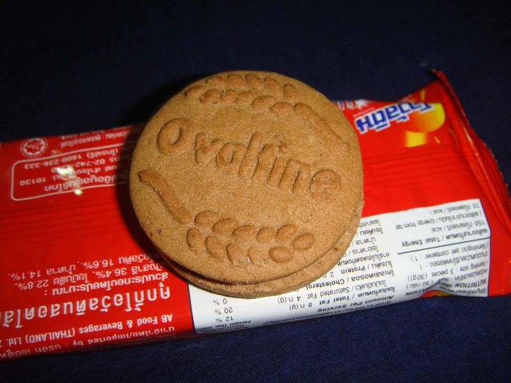 Ovaltine sandwich cookies with chocolate malt cream