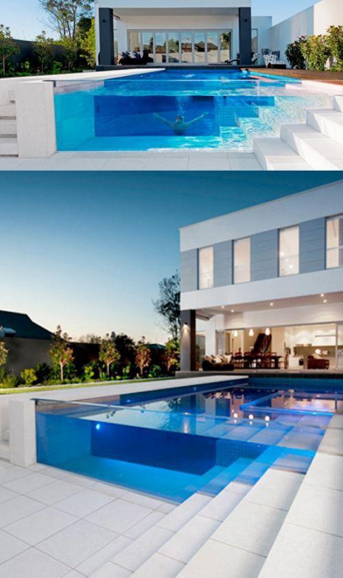 awesome pool -- I would kind of feel like a zoo animal though
