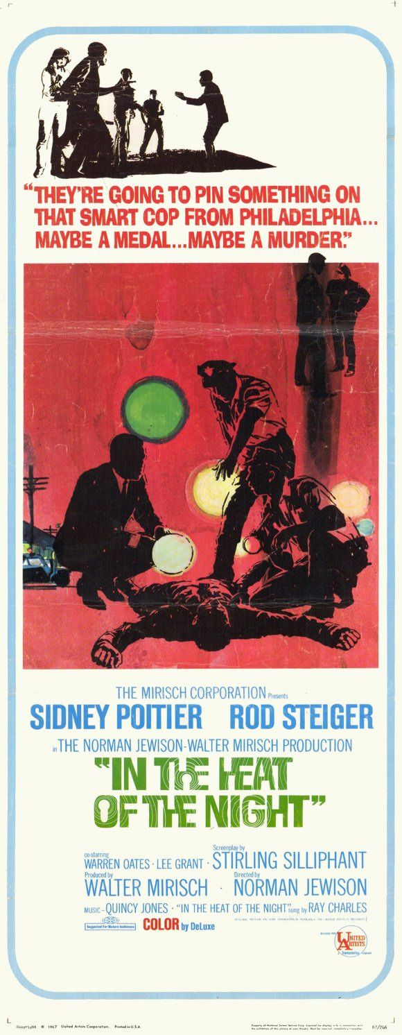 In the Heat of the Night (1967) - 14 x 36 Movie Poster - Insert Style A