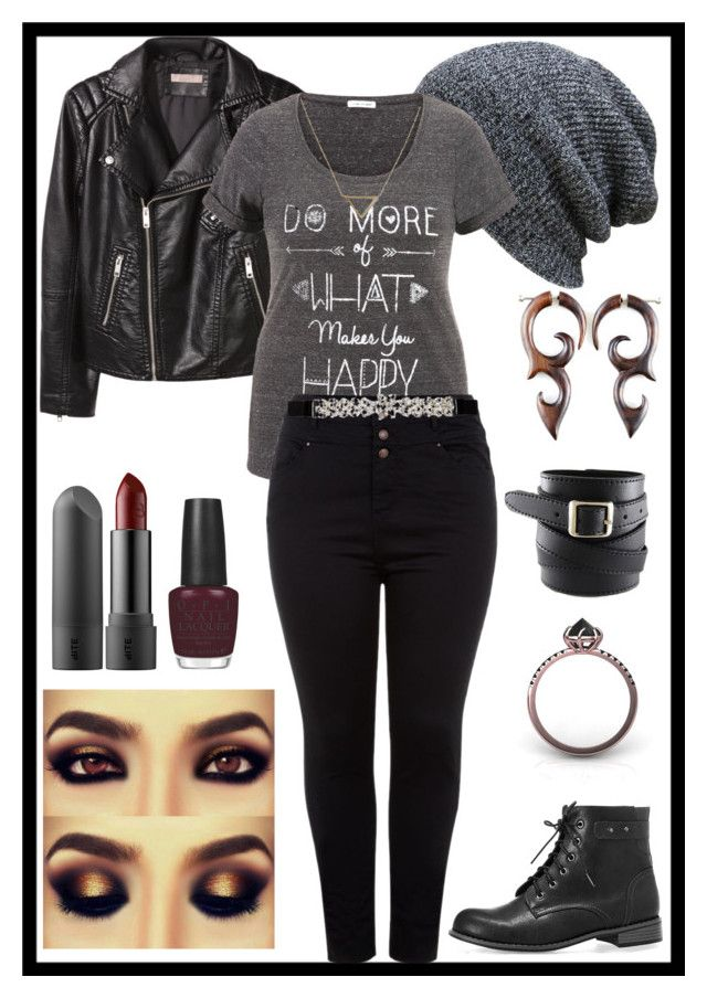 """""""Plus size, because why not?"""" by rebelvictoria ❤ liked on Polyvore featuring güzellik, H&M, Avenue, OPI, maurices, Banana Republic ve City Chic"""