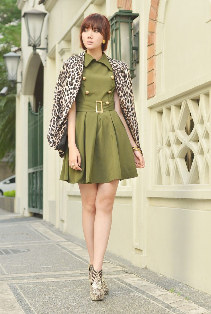In Command ( Animal Print Fur Real Faux Blazers & Military Dresses )