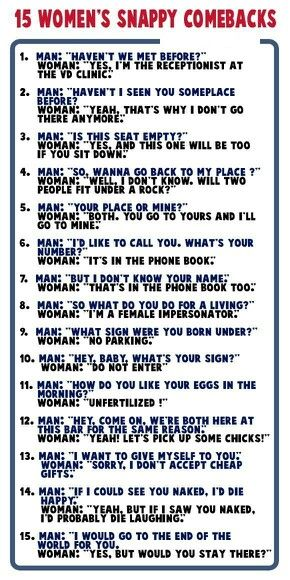 "These are phrases all girls and women should know for when those ""special someones"" come along."