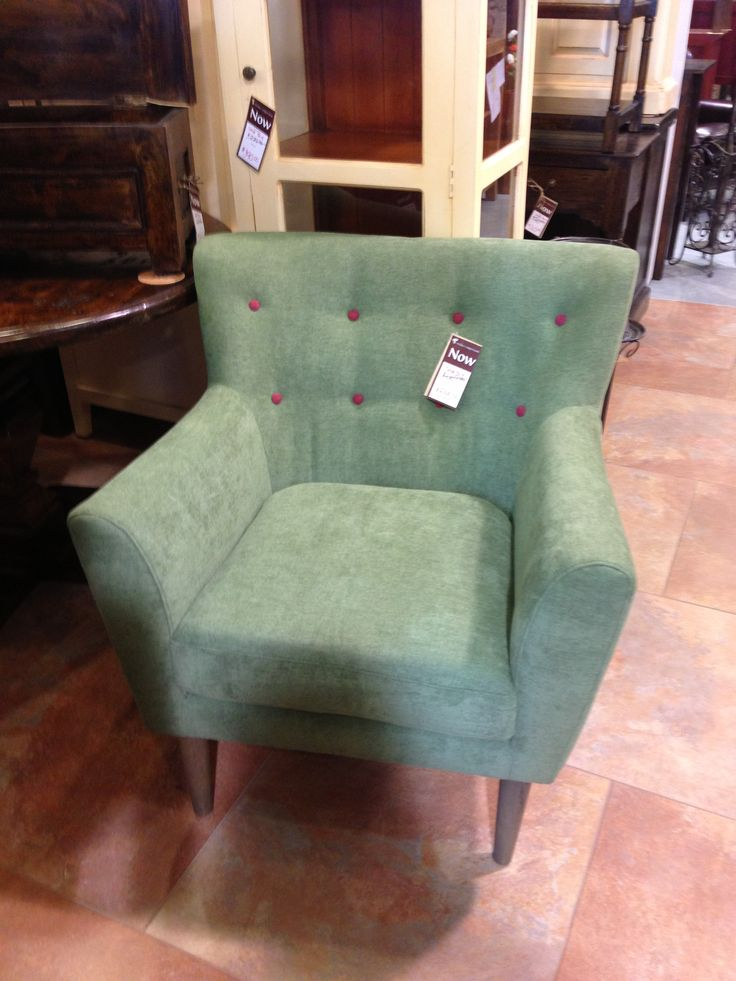 Our new Retro Chairs are in stores now! Pictured in green for $335. www.wickeremporium.ca