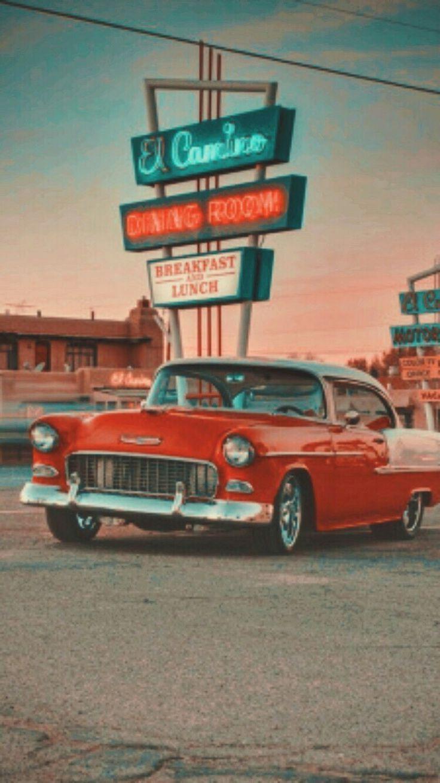Iphonewallpaper Vintage Hintergrundbildiphone Tapete Tapetenhintergrund Lockscreen Iphone Autoauto Retro Amerika Cars Wallpaper Retro Retro Estetika Retro
