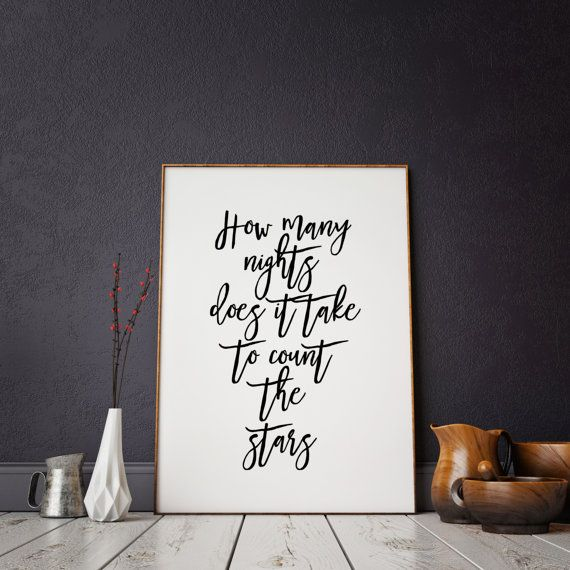 ONE DIRECTION ART Typography Art Print Song Lyrics by ParisStore