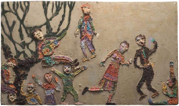 Obra realizada por Violeta Parra em 1963-1965 - Niños en fiesta