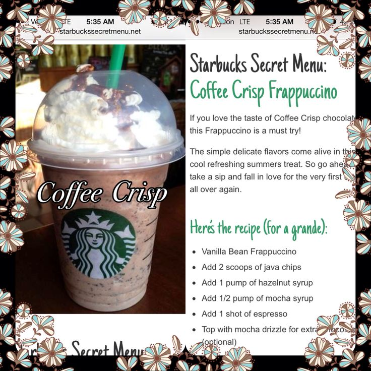 Starbucks secret recipes! #starbucks #frappacino #coffee   – Yummy in my tummy